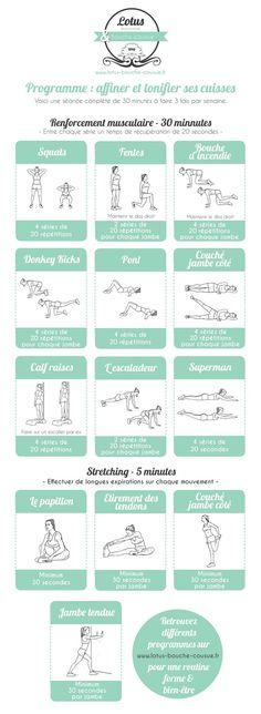 Programme : affiner et tonifier ses cuisses #correres #deporte #sport #fitness #running