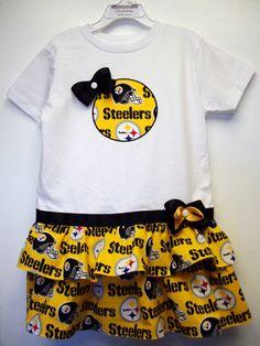 T-Shirt Dress-Pittsburgh Steelers