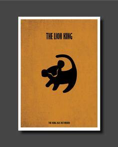 Roi Lion affiche minimaliste affiche de film par EyeCandyPrints
