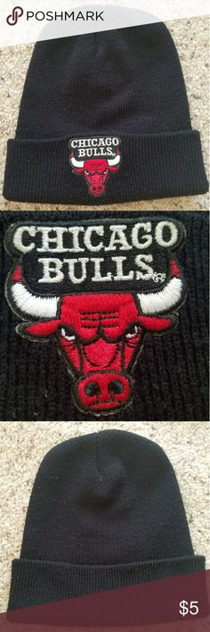 Chicago bulls beanie black A black chicago bulls beanie. Used. rossmor industries Accessories Hats