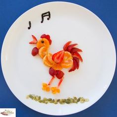Fun food for picky kids Mandarin Rooster