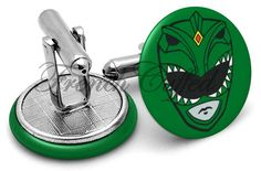 Power Rangers Green Cufflinks by FrenchCuffed | Discount and Unique Personalized Cufflinks