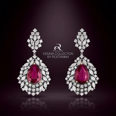 MRuby Stones Are Stones Of Love ,Vitality And Power.Magestic Ruby Earring From…