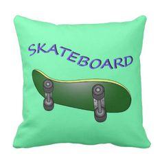 skateboarding beautiful illustration throw pillow - decor gifts diy home & living cyo giftidea