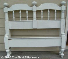 I bought this twin headboard at a garage sale for a couple of bucks several years ago with the plan of making it into a garden bench.  I ...