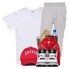 """""""Youn M.A Ooouuu"""" by kiatheplugg ❤ liked on Polyvore featuring Bonobos, True Religion, MCM and Retrò"""