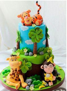 Safari animales bebe baby shower selva
