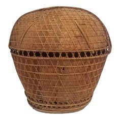 Vintage Handmade Basket From the Philippines Traditional Baskets, Large Baskets, Filipino, Farm Life, Beautiful Hands, Basket Weaving, Philippines, Weave, 1960s