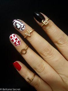 nail art coeur