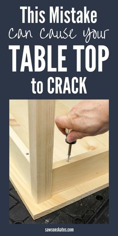 When building DIY furniture the best way to attach a table top is with store-bought or DIY fasteners which allows for movement during seasonal changes. Failing to allow for movement can cause wood to crack and split. Learn Woodworking, Woodworking Patterns, Woodworking Techniques, Popular Woodworking, Woodworking Furniture, Custom Woodworking, Woodworking Crafts, Woodworking Plans, Woodworking Supplies