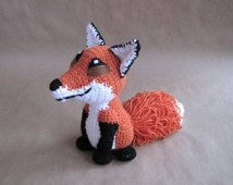 Crocheted Red Fox PDF Pattern - Digital Download