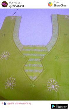 Churidar Neck Designs, Kurta Neck Design, Salwar Designs, Chudi Neck Designs, Dress Neck Designs, Blouse Designs, Plain Saree With Heavy Blouse, Simple Kurti Designs, Kurti Patterns