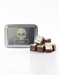 Tasty brownies for any occasion. Netflorist offers a range of scrumptious brownies online. No Bake Treats, Sugar Skull, Gifts For Him, Brownies, Bakery, Tasty, Cake Brownies, Sugar Skulls, Sugar Scull