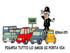 Il Sindaco Pisapia e  lo Smog a Milano... #IoSeguoItalianComics #Satira #Politica