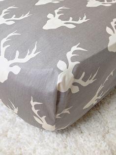 Ritzy Baby Designs, LLC - Hello Bear Buck Forest Mist Crib Sheet, $48.00…