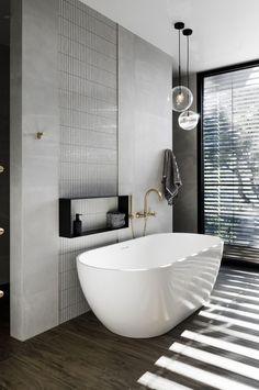 Our top 6 bathrooms from the 2018 Australian Interior Design Awards. Bathroom Windows, Bathroom Renos, Bathroom Flooring, White Bathroom, Bathroom Renovations, Master Bathroom, Bathroom Ideas, Bathroom Colors, Silver Bathroom