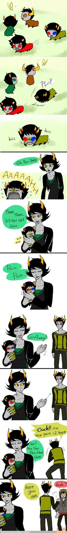 That's so cute Grub's every where. I like how Psiioniic gives the pain to Signless. http://q-dormir.tumblr.com/post/50168466540/is-play-date-like-this-3