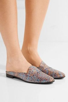 Heel measures approximately 15mm/ 0.5 inches Multicolored leather Slip on   Made in Italy Pierre Hardy