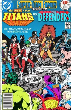 Super-Team Family: The Lost Issues!: The New Teen Titans Vs. The Defenders