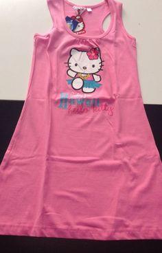 Hello Kitty vestito rosa prendisole robe dress kleid bambina 8 anni