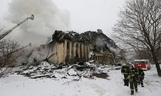 Fire in major Russian library destroys 1m historic documents