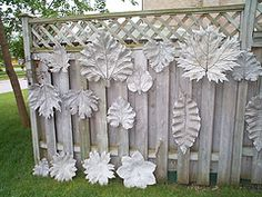 """Concrete leaves Found a lot of pins on boards called """"Hypertufa"""".  I'm guessing that's the type of concrete they are using?"""