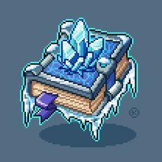 Frost Magic by maicakes on DeviantArt Pixel Art Anime, Arte Elemental, Modele Pixel Art, 8 Bit Art, Pix Art, Pixel Art Games, Elements Of Art, Copics, Game Design