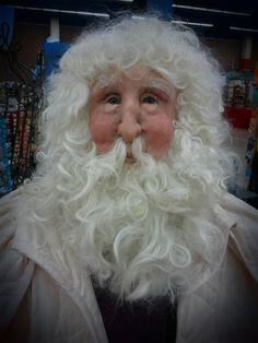 Handsculpted one of a kind life size Santa by Christie Elliott at Allseasonsartdolls