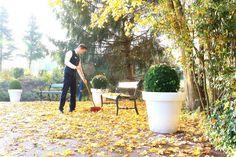 Wenn im Herbst die Blätter fallen ....   ... dann haben wir viel zu tun, um alles sauber zu halten. Täglich sind unsere Mitarbeiter in der Früh damit beschäftigt, unsere Einfahrt von den bunten Blättern zu befreien. Wellness, Driveway Entrance, Too Busy