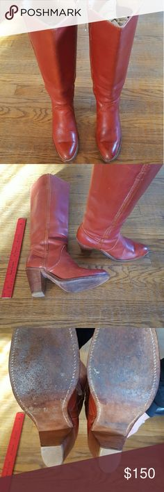 Frye boots All leather, inside and out, like new, size 7B Frye Shoes Heeled Boots