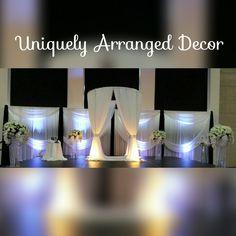 Elegant ceremony chuppah and backdrop drapery Reception Backdrop, Wedding Ceremony Decorations, Table Decorations, Chuppah, Shutterfly, Draping, Big Day, Backdrops, Bride