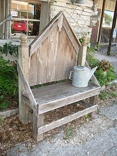 easy to make bench for the garden