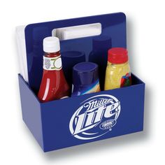Condiment/Napkin Caddy - Condiment & Napkin Caddy with one color imprint on front & back, USA made