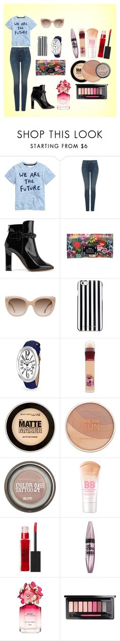"""""""We are the future flowers"""" by acgodinho ❤ liked on Polyvore featuring NYDJ, Valentino, Disney, Alice + Olivia, MICHAEL Michael Kors, Bling Jewelry, Maybelline and Marc Jacobs"""
