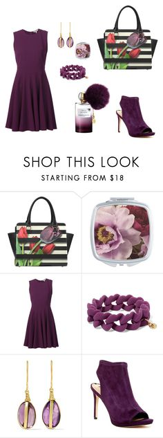 """""""Plum lovers 👾"""" by mrsagosto ❤ liked on Polyvore featuring Rebecca Taylor, Marc by Marc Jacobs, Pippa Small, Via Spiga and Annick Goutal"""