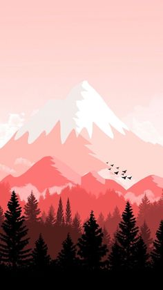 Perfect for monochromatic board cute wallpapers, landscape art, red wallpaper, iphone wallpaper drawing Scenery Wallpaper, Landscape Wallpaper, Nature Wallpaper, Landscape Art, Wallpaper Backgrounds, Landscape Paintings, Iphone Wallpaper, Red Wallpaper, Screen Wallpaper