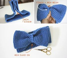 Learn to knit // DIY bow headband A good first project for teaching people. Learn to Knit // DIY Bow Headband A great first project to teach people. Baby Knitting Patterns, Loom Knitting, Free Knitting, Free Crochet, Crochet Baby, Knit Crochet, Crochet Patterns, Loom Patterns, Amigurumi Patterns