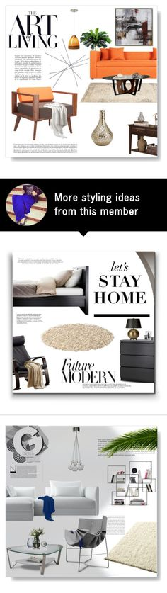 """""""Untitled #549"""" by n00dy on Polyvore featuring interior, interiors, interior design, home, home decor, interior decorating, Dot & Bo, Blu Dot, Tech Lighting and Amrita Singh"""