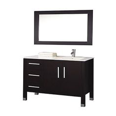 MTD Vanities MTD-8118C-R Monaco 40 Single Right Sink Bathroom Vanity Set - Vanity Top Included