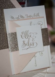 platinum wedding invites
