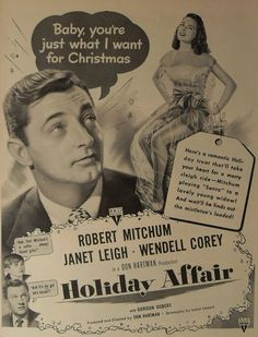 Holiday Affair, directed by Don Hartman, screenplay by Isobel Lennart and cinematography by Milton R. Krasner. Description from classicfilmaficionados.com. I searched for this on bing.com/images
