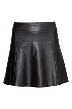 Falda de piel con vuelo | H&M