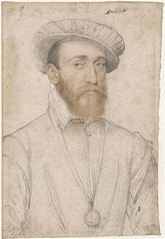 François de Coligny - François Clouet - 1555 - portrait dessiné - musée Condé