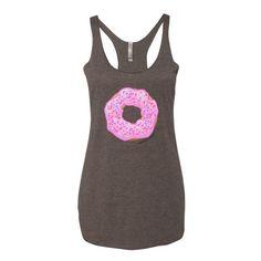Women's Strawberry Glaze Donut Tank Top