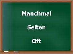 Aprender Alemão-Aula nº 102 (Manchmal / Selten / Oft) - YouTube