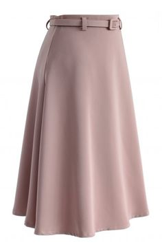 Savvy Basic Belted A-line Skirt in Pink - Retro, Indie and Unique Fashion