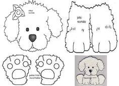 Moldes: cachorrinho ~ Feito para Meninas