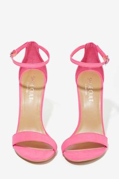 Nasty Gal Adore Heel - Pink - Shoes | Open Toe