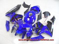 2005 2006 HONDA CBR 600 RR Motorcycle Plastic Kit Blue Black FFKHD008