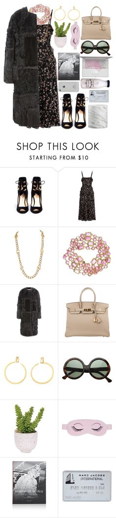 """""""Sin título #1252"""" by meelstyle ❤ liked on Polyvore featuring Paul Andrew, Valentino, Chanel, Nina Ricci, Hermès, Lux-Art Silks, Crate and Barrel, women and polyvoreeditorial"""